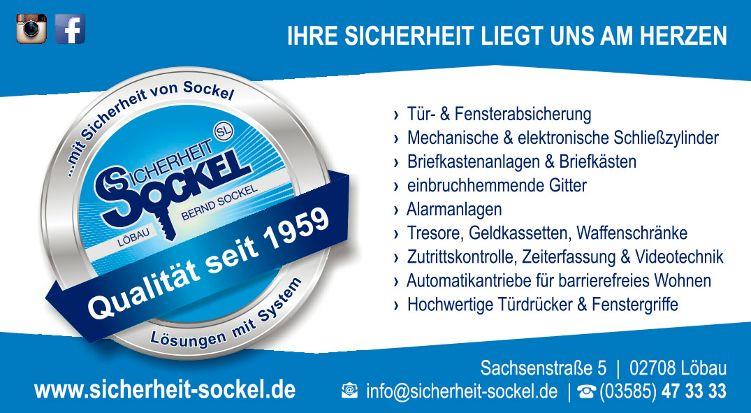 Sockel Anzeige mit Siegel 91x50mm