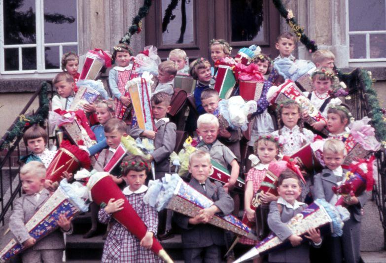 Schuleintritt Jahrgang 1960.
