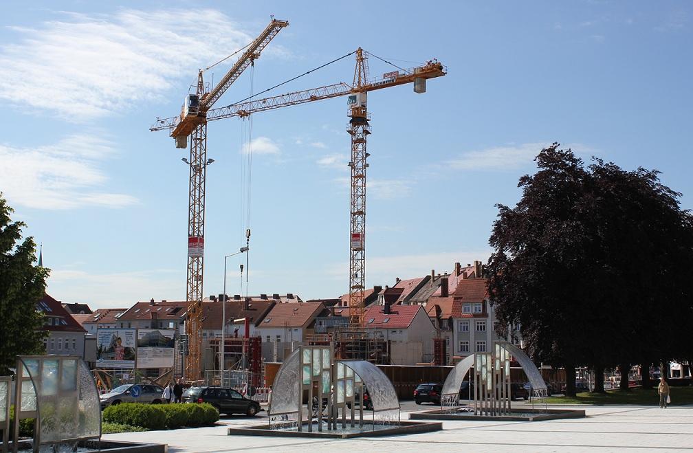 Bau des Kornmarkthauses in Bautzen am 5.6.2013