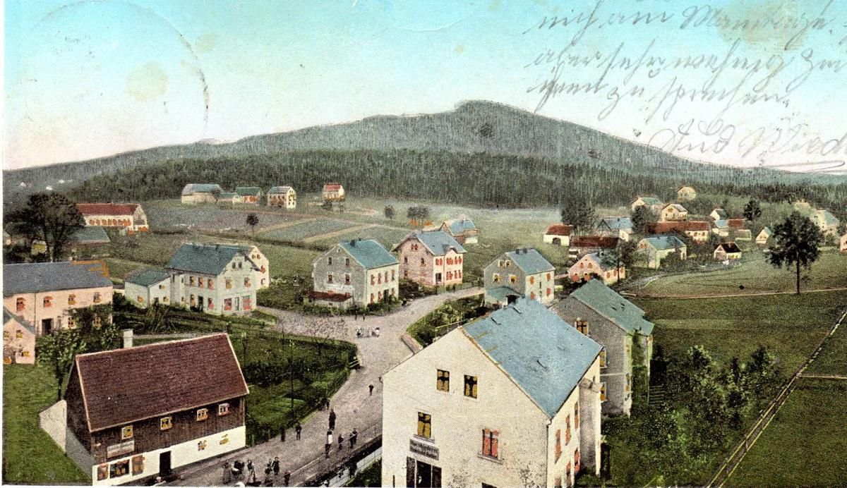 Blick vom Viadukt um 1906.