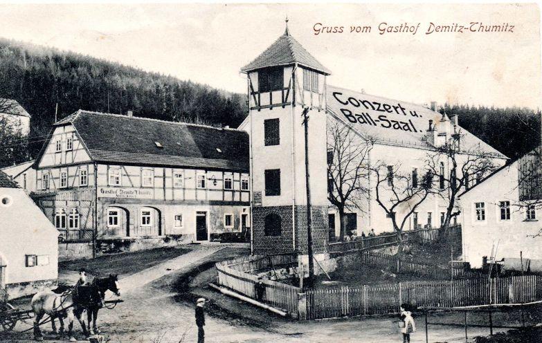 Gasthof Kmoch um 1912.