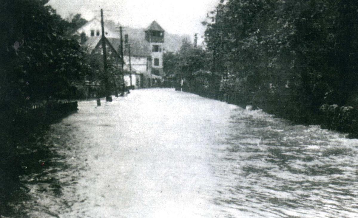 Foto vom Hochwasser am 15.7.1951.