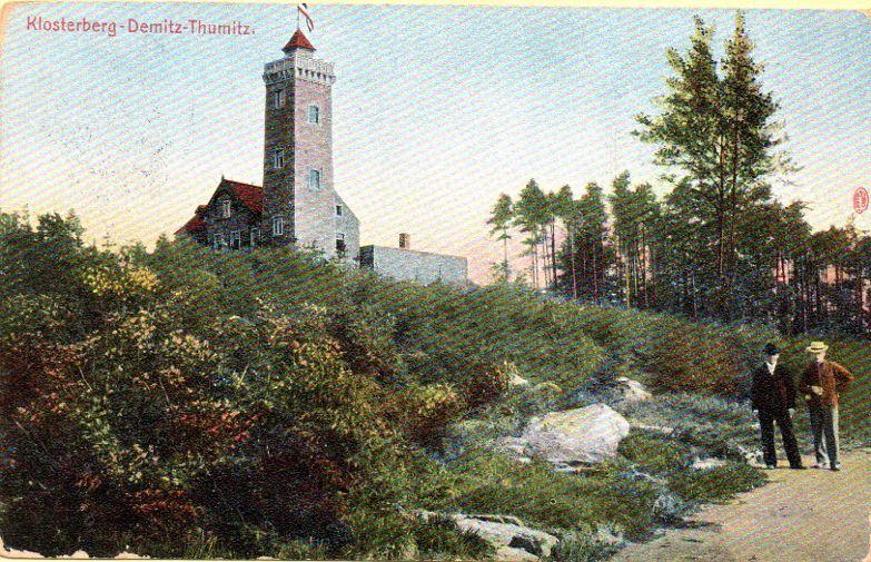 Berggasthof Klosterberg 1909. Am 6.5.1945 gesprengt.
