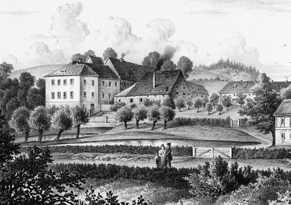 Schloss Pohla vor 1860.