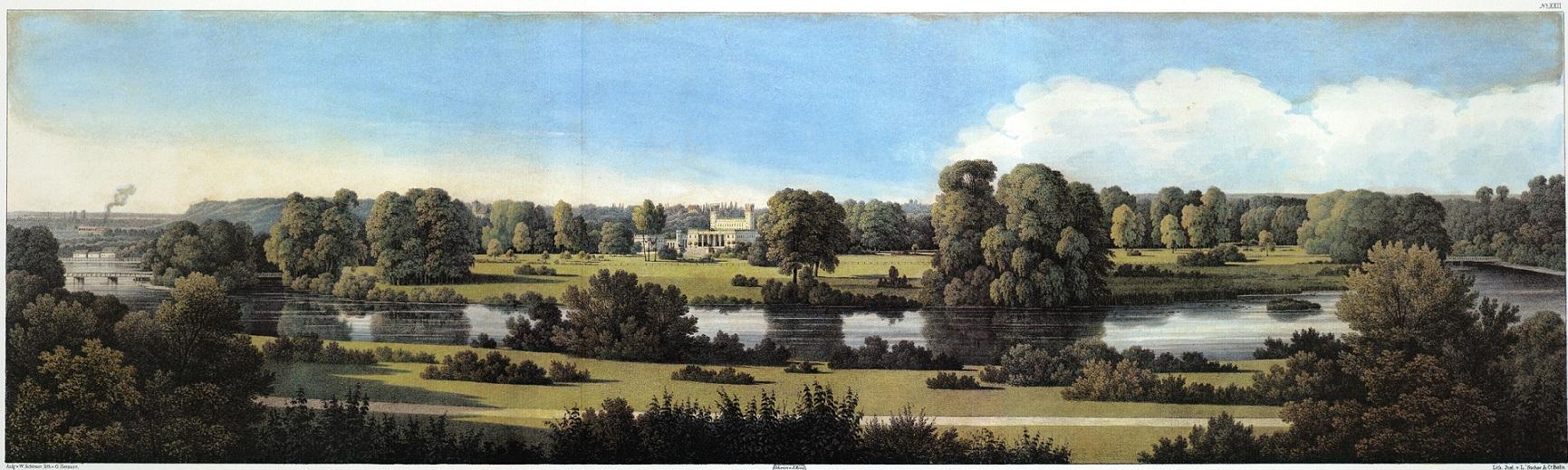 """Geplanter Blick im Pücklerpark von 1834. Foto: Stiftung """"Fürst-Pückler-Park Bad Muskau"""""""