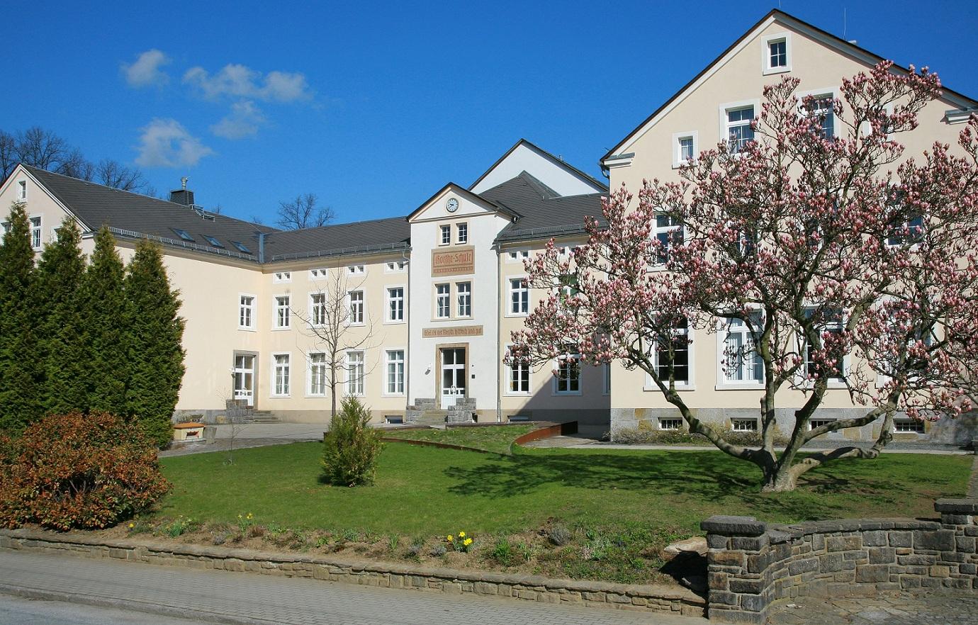Die Goethe-Oberschule Wilthen um 2015.