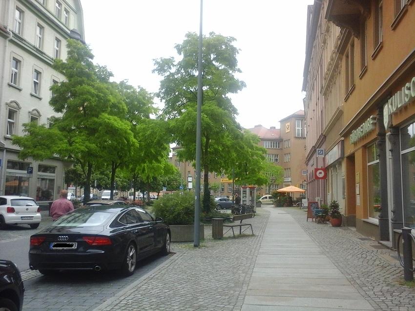 Goschwitzstraße Juli 2016. Blick Richtung Postplatz.