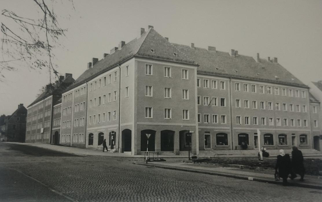 Ecke Poststraße/ Muskauer Straße.