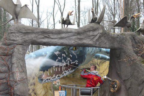 Im Saurierpark gibt es in den Herbstferien viele tolle Aktivitäten. © Foto: BBB mbh
